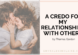a credo for my relationships wtih others